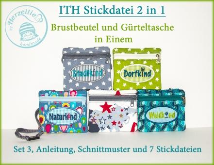 2in1 Brustbeutel-Gürteltasche S3