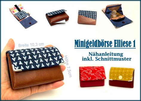 Nähanleitung Mini-Geldbörse Elliese1