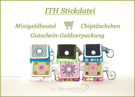 Minitäschchen Chiptasche Anhänger Vol. 4