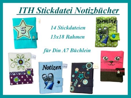 Notizbuchhülle, Buchhülle, Terminplaner DIN A7
