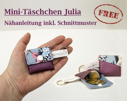 Minitäschchen Freebook Nähanleitung