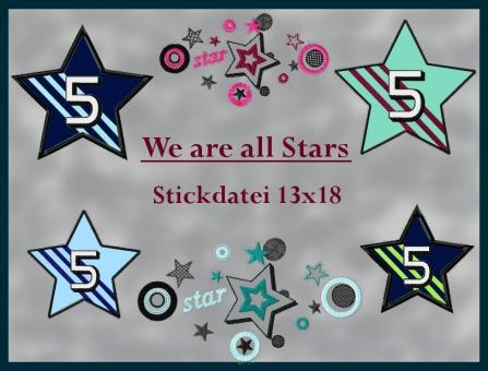 Sterne im sport und Tattoo Stil groß