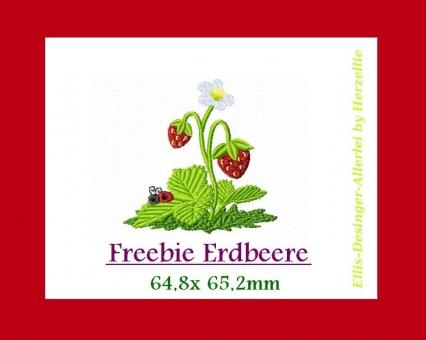 kostenlose Stickdatei Erdbeere