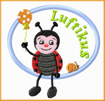 Stickdatei Applikation Käfer