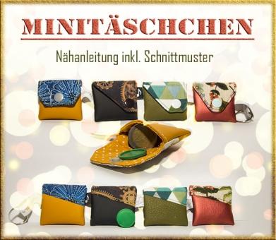 Minitäschchen-Nähanleitung inkl. Schnittmuster