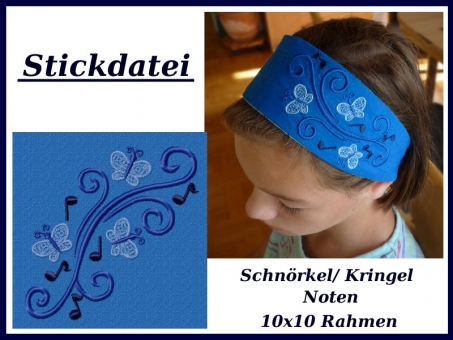 Schnörkel-Kringel-Ornament Noten Schmetterling