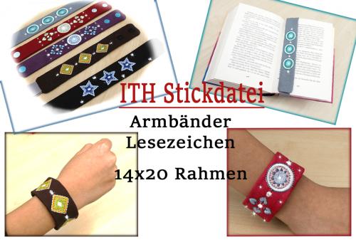 Armbänder Lesezeichen 14x20 ITH Stickdatei