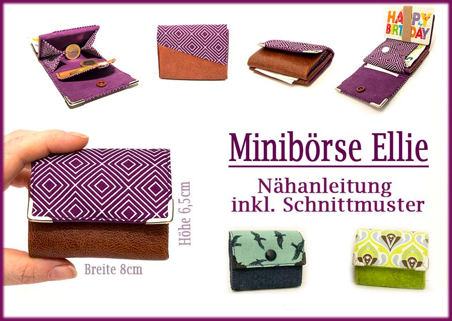 Stickdateien.By-Herzellie kaufen   Nähanleitung Mini-Geldbörse Ellie ...